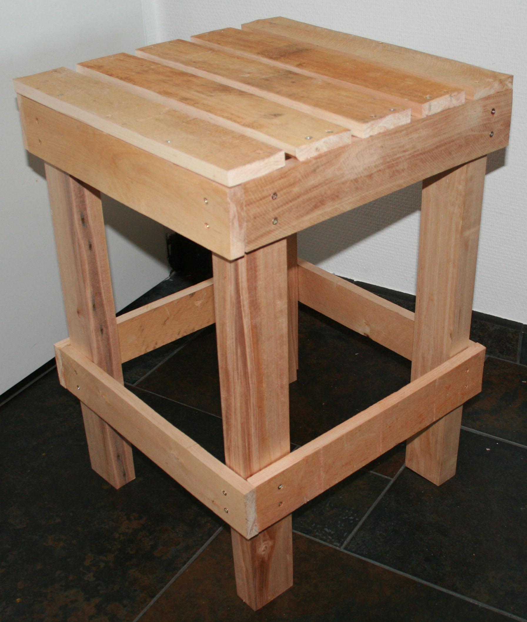 Tafel van hout maken